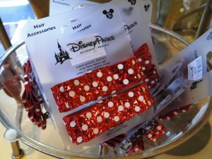 Minnie Mouse Red and White Polka Dot Sequin Hair Clip