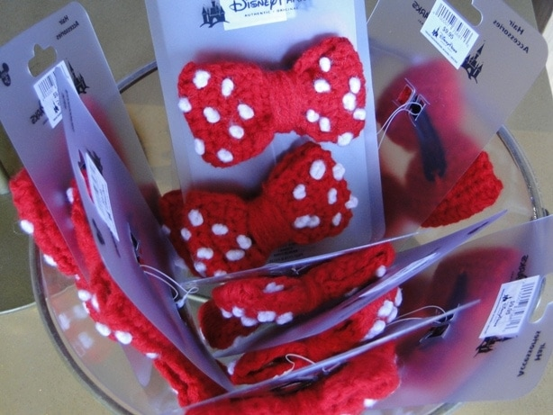 Crocheted Look Minnie Mouse Hair Bows with Polka Dots