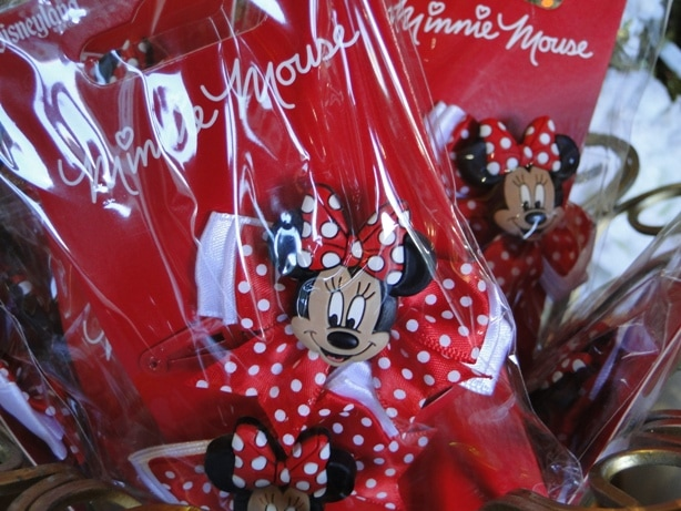 Minnie Mouse Hair Bows with Polka Dot Ribbons