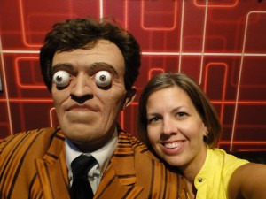"Posing with a ""friend"" at Ripley's Believe It or Not"