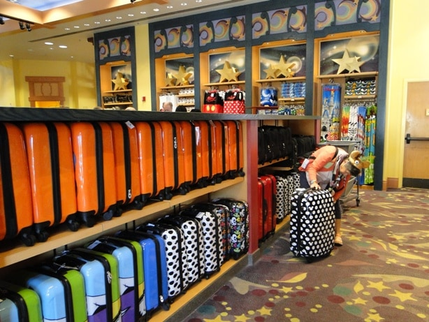 Disney Luggage at World of Disney Store