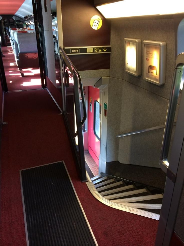 Common Area TGV Train Staircase