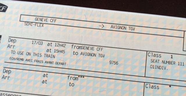 TGV Ticket