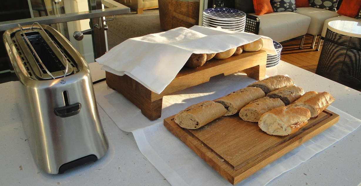 Fresh local breads.