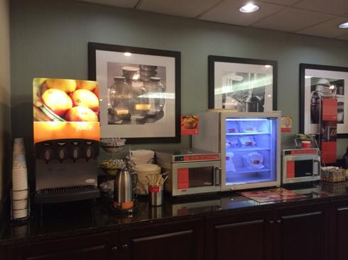 Hampton Inn Breakfast Buffet