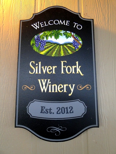 Silver Fork Winery Sign