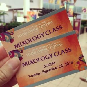 Mixology class tickets