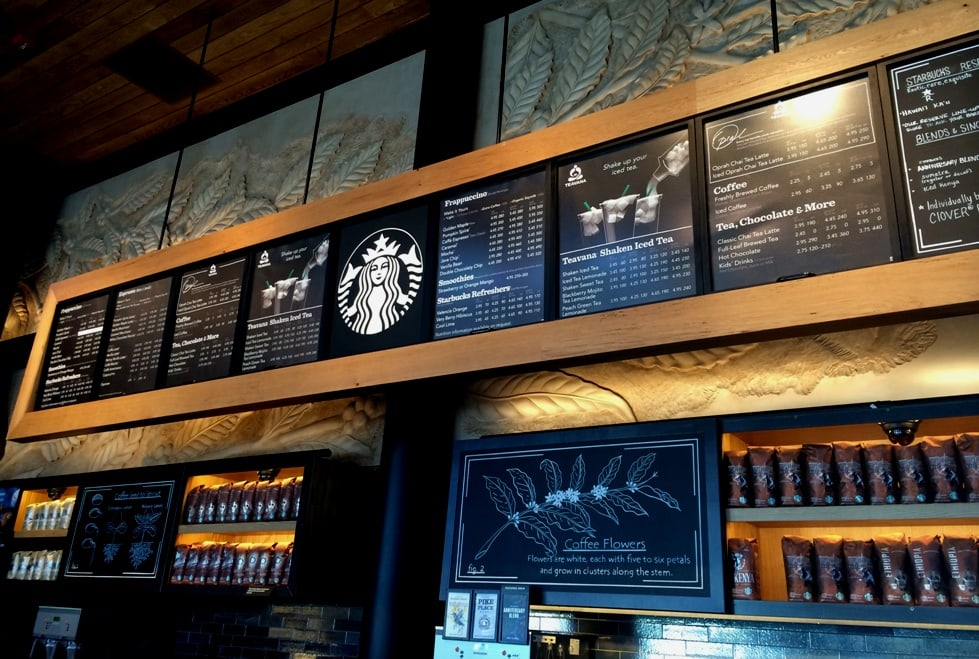 starbucks disney menu