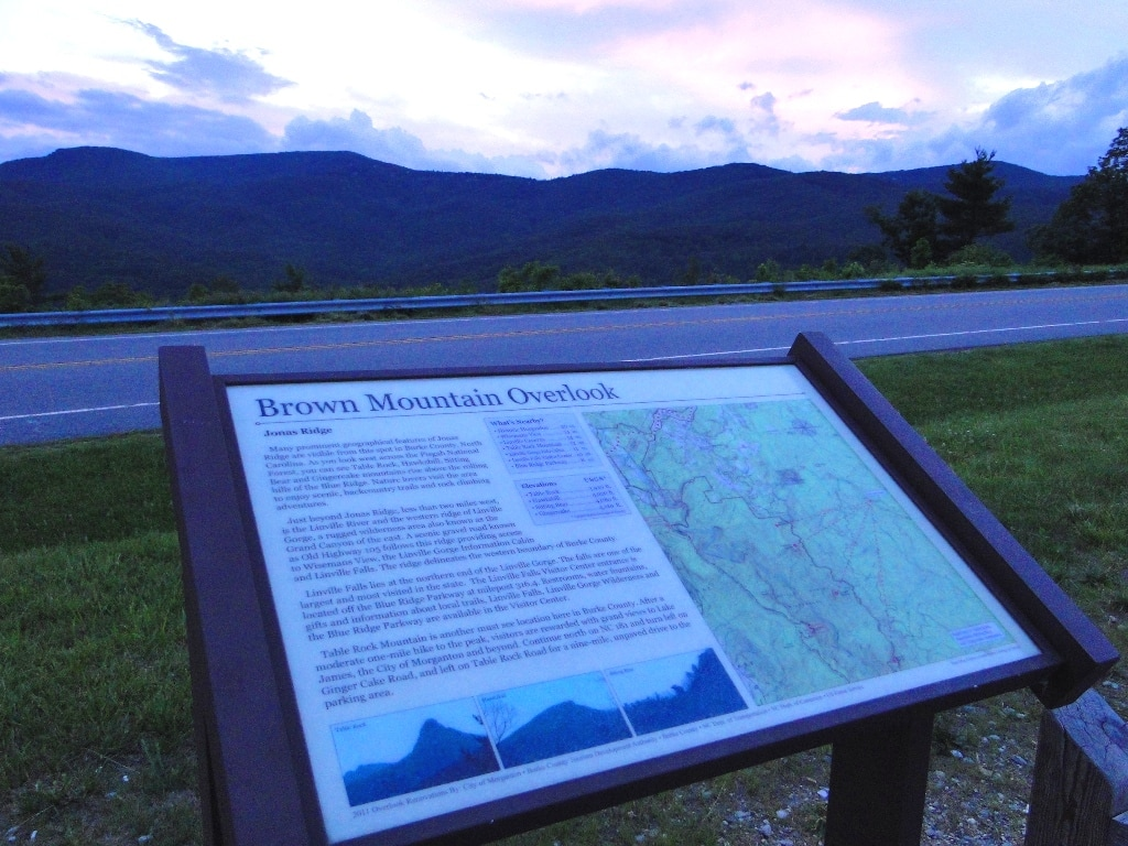 Brown Mountain Blue Ridge Mountains