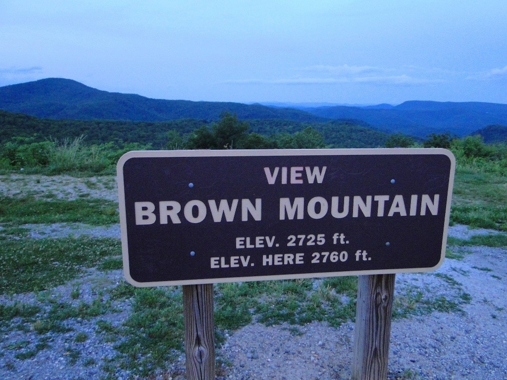 Brown Mountain Lights Pisgah National Forest
