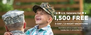 Free Vacations for Military Families at Westgate Resorts In Florida, Missouri and Tennessee