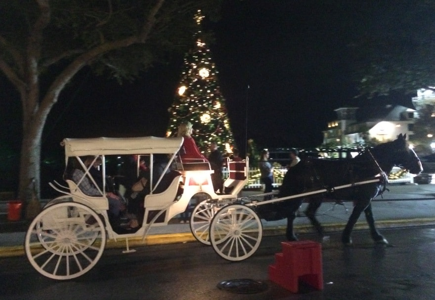 Celebration, Florida's Now Snowing Event for 2014 - Kim and Carrie