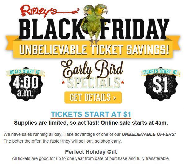 Ripley's Black Friday