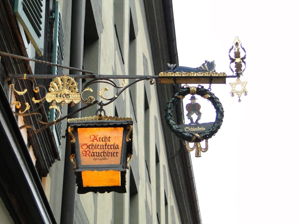 An actual sign from a bar in Bamberg, Germany.