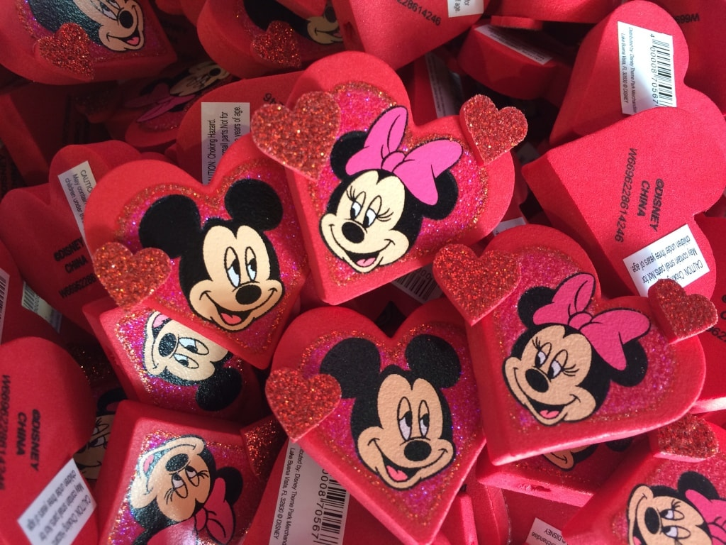 Mickey and Minnie Mouse Heart Shaped Valentines Day Antenna Toppers Disney Love