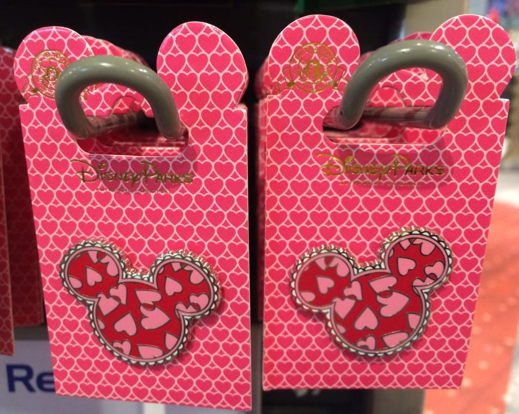 disney mickey mouse head valentines day trading pins