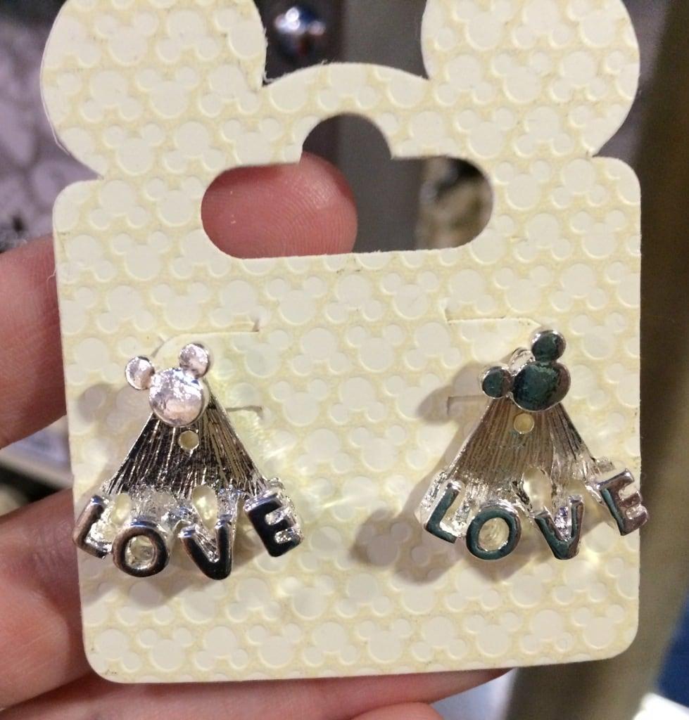 disney love earrings mickey mouse head