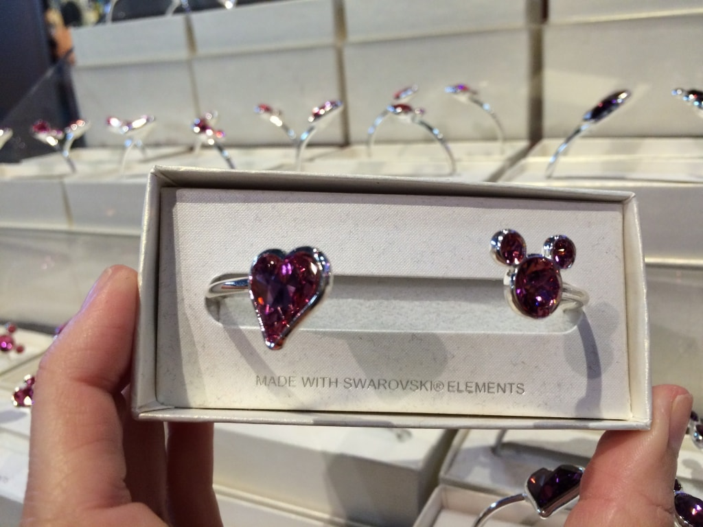 Disney crystal bracelet head heart mickey
