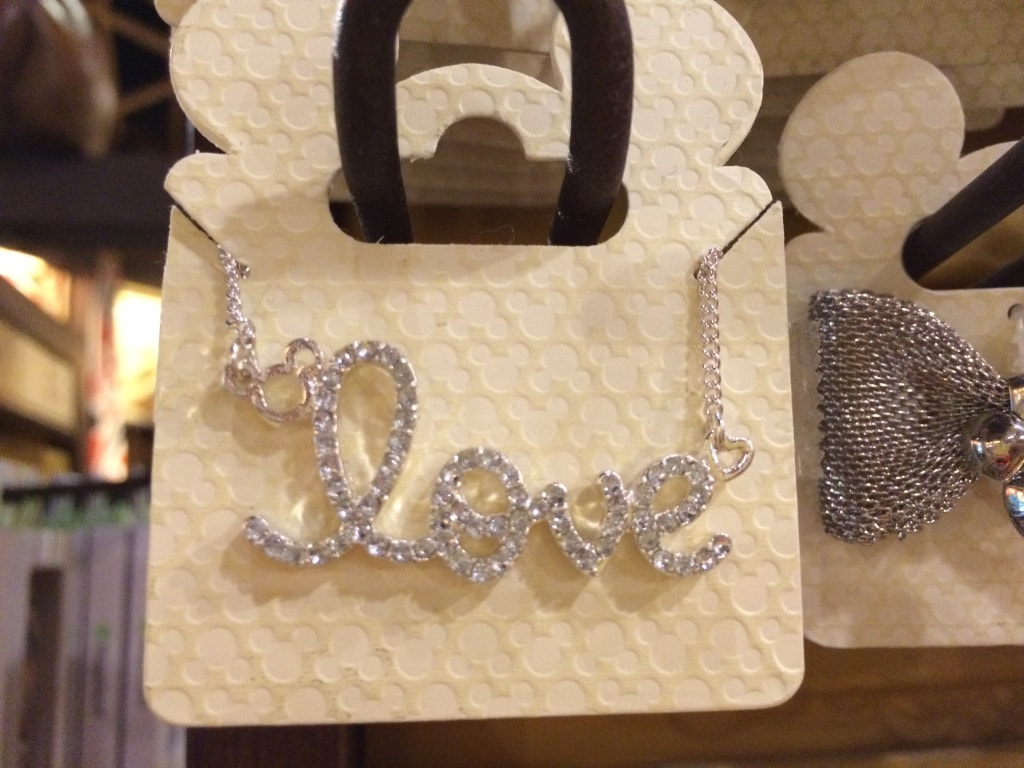 love necklace mickey mouse head disney