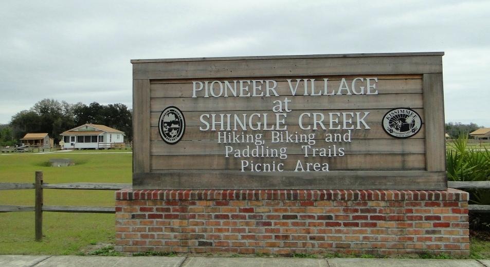 Pioneer Village Kissimmee Florida Sign
