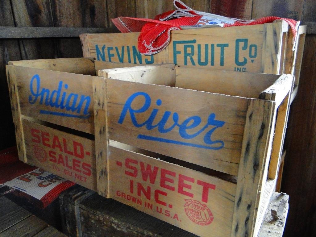 Radclyffe Cadman Bros. Orange Packing House Old Orange Crates