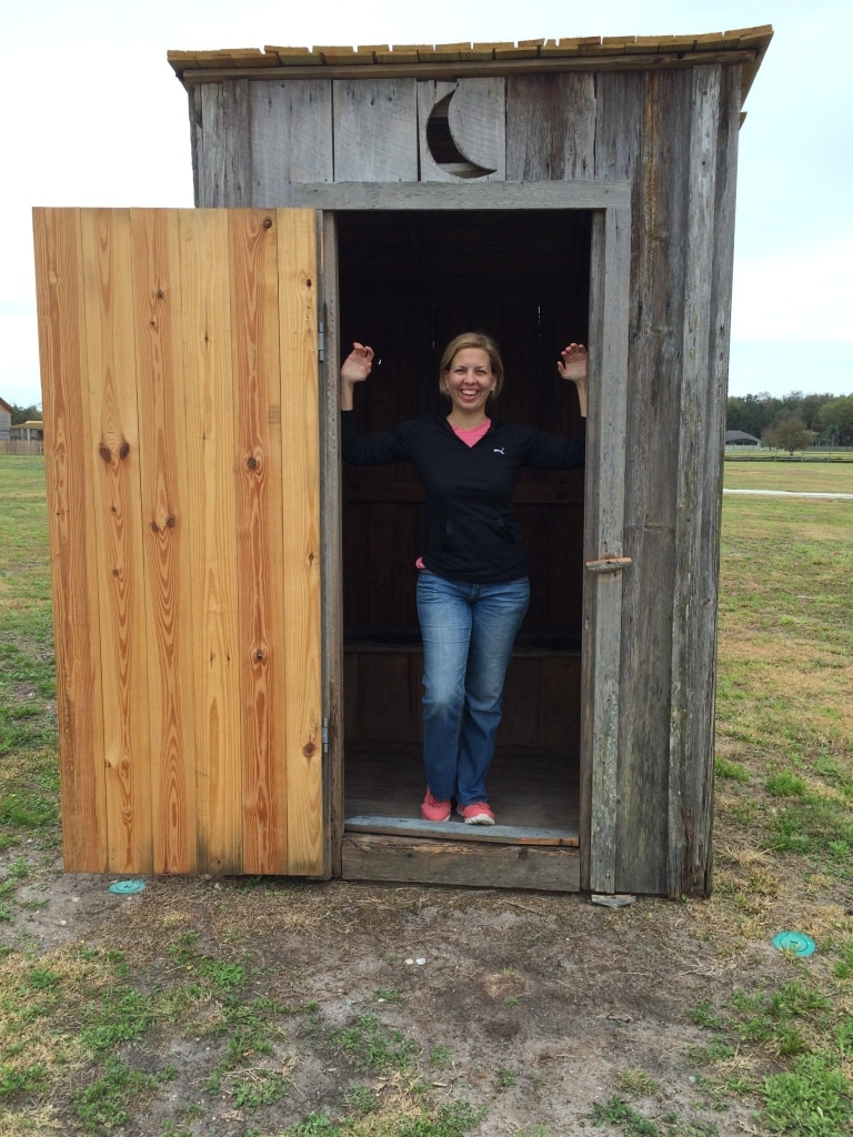 Outhouse at Pioneer Village in Kissimmee