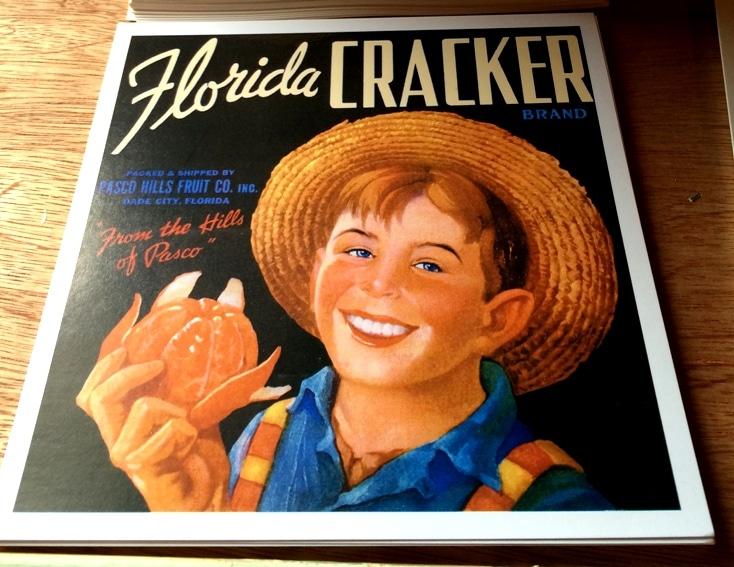 Florida Cracker Orange Crate Label