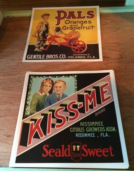 old orange crate labels kissimmee pioneer village
