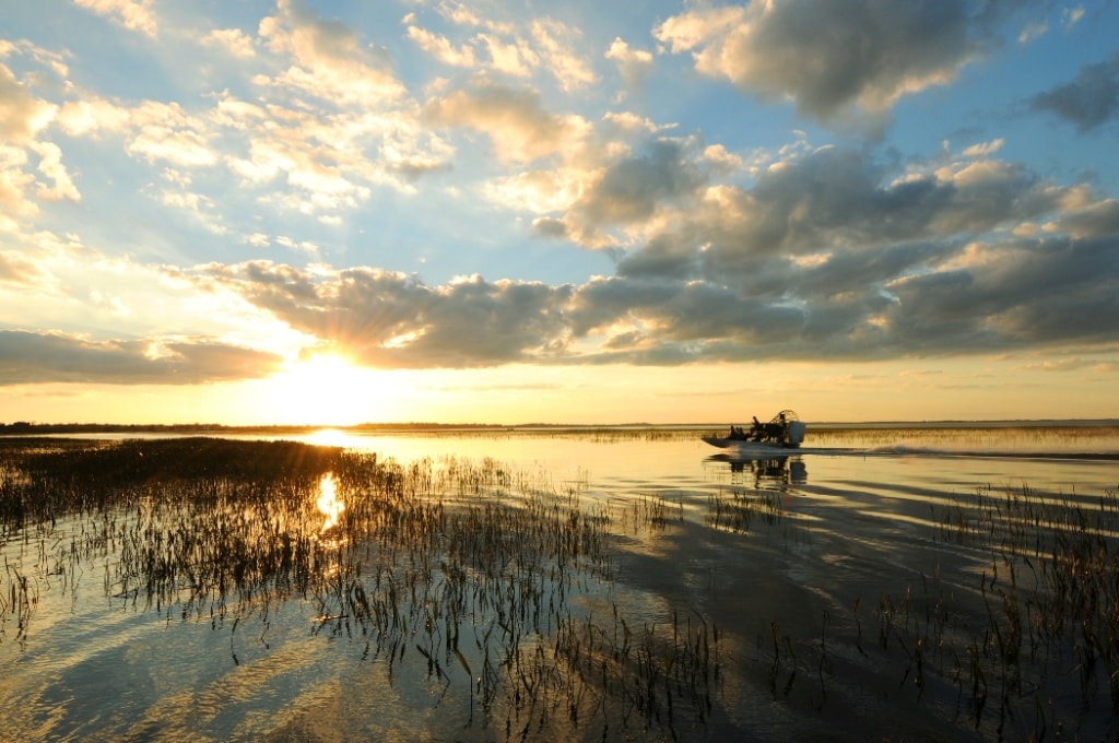 Boggy Creek Airboats Sunrise