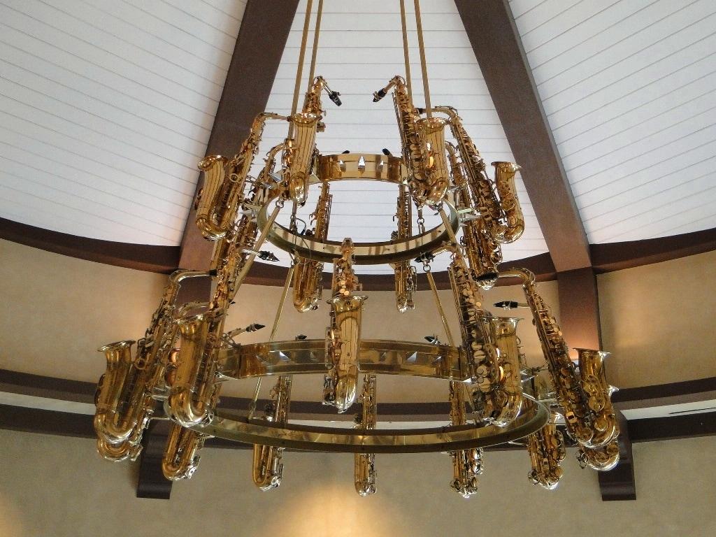 saxophone chandelier