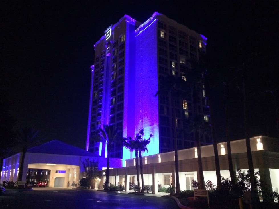 B Resort at Night Downtown Disney Orlando