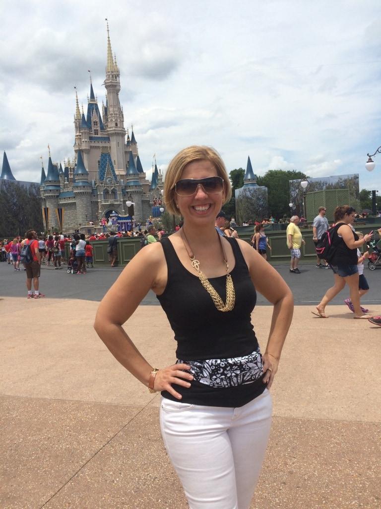 Kim Wearing Bandi Wear at Disney