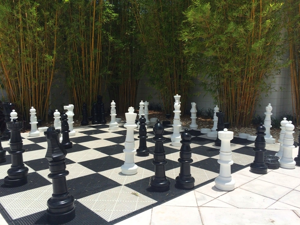 Huge Outdoor chess set B Resort