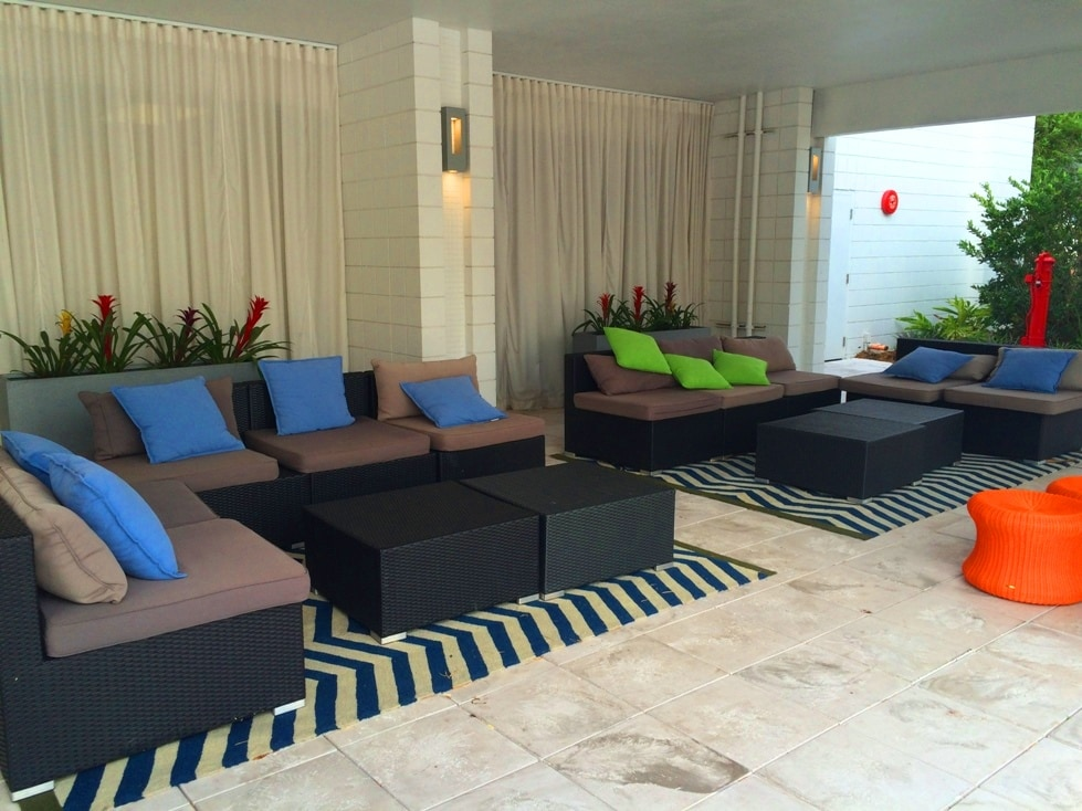 Outdoor Lounge Space B Resort Lake Buena Vista Disney