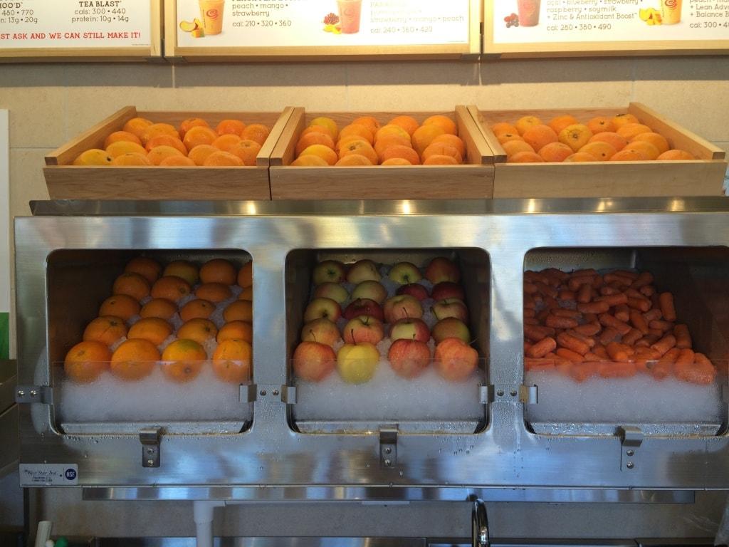 Frozen Produce on Ice Citrus