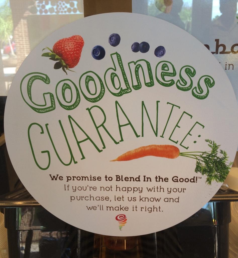 Jamba Juice Goodness Guarantee