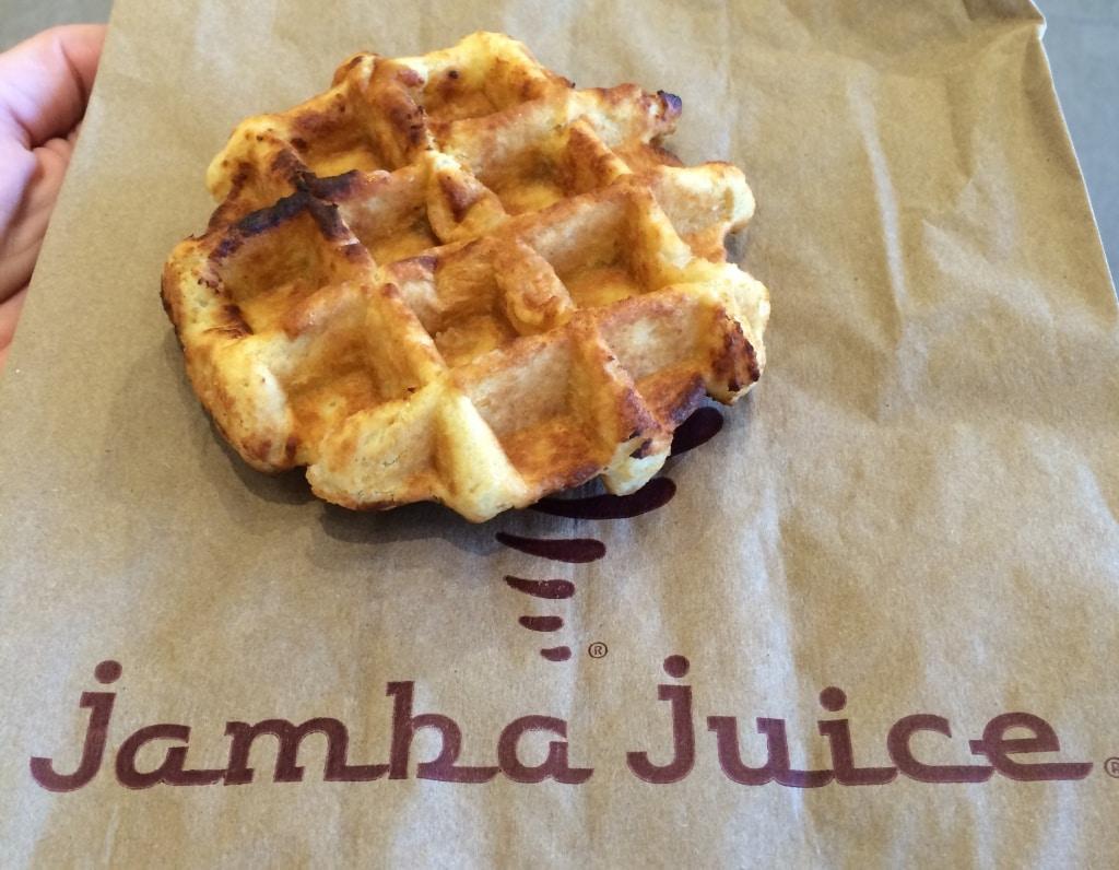 Jamba Juice waffle