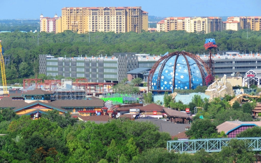 Zoomed in View of Planet Hollywood Area