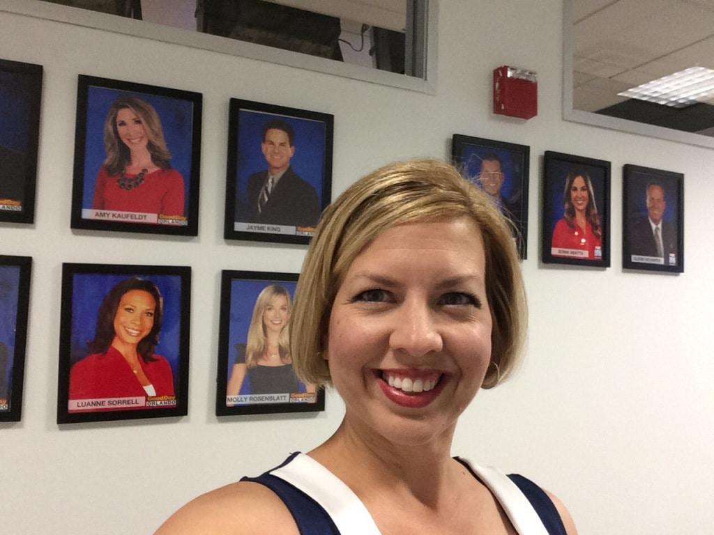 Kim Selfie in Green Room