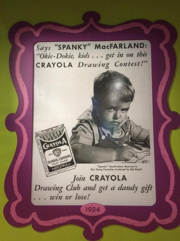 Spanky Crayola Vintage Ad Crayons