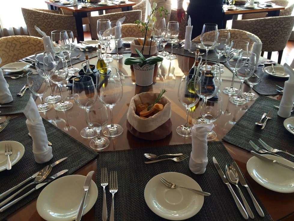 The Chefs Table Restaurant AmaWaterways Table Scape