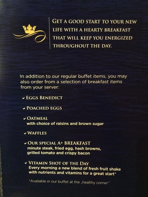 AmaWaterways Breakfast Menu
