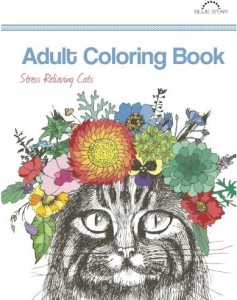 Adult Coloring Books Stress Relieving Cats