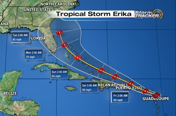 Hurricane Erika