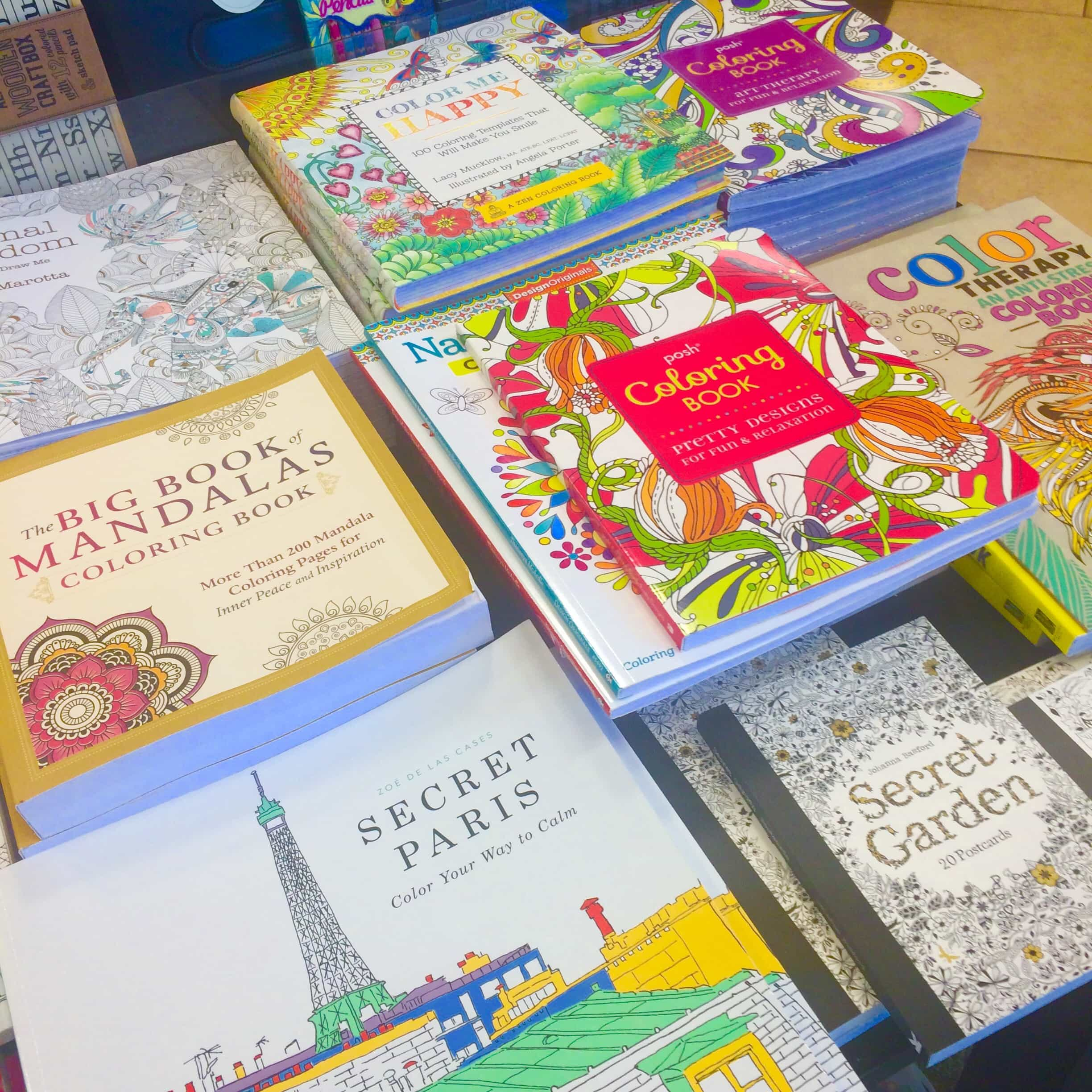 Adult Coloring Books At Bookstore