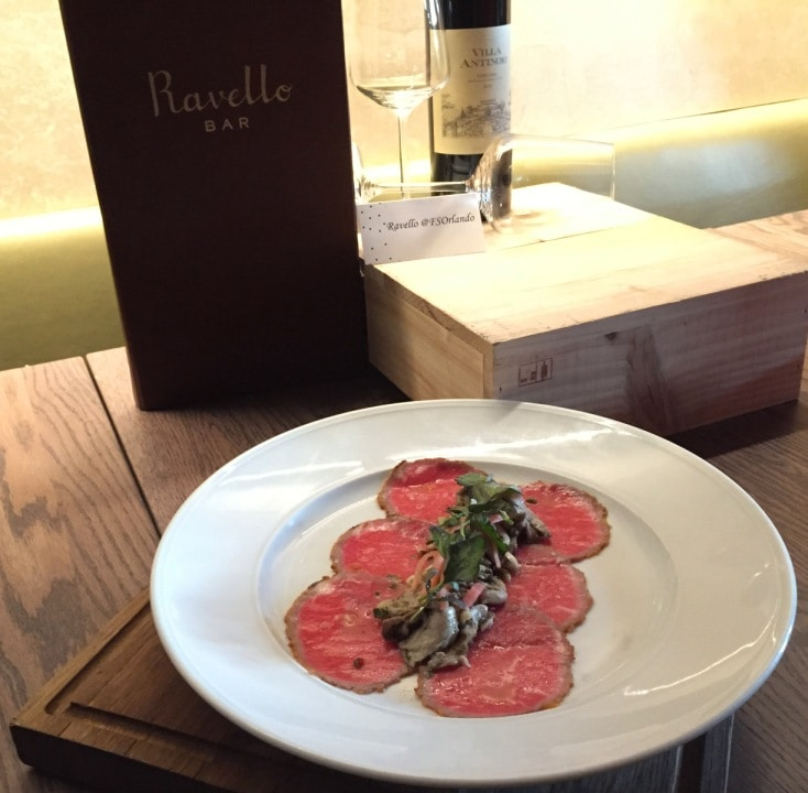 Beef Carpaccio Ravello Magical Dining Menu Orlando