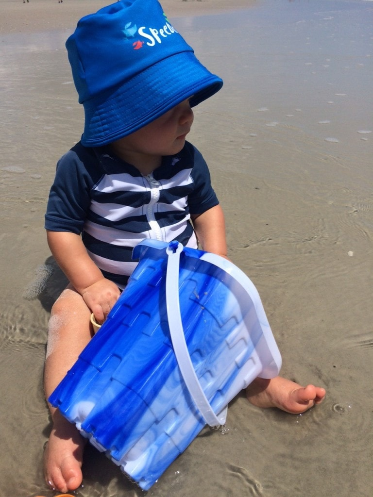 What baby will need on that first beach trip! Pack only what you'll need!