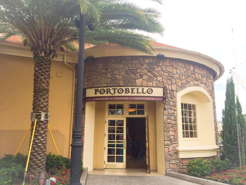 Portobello Restaurant Orlando Menu