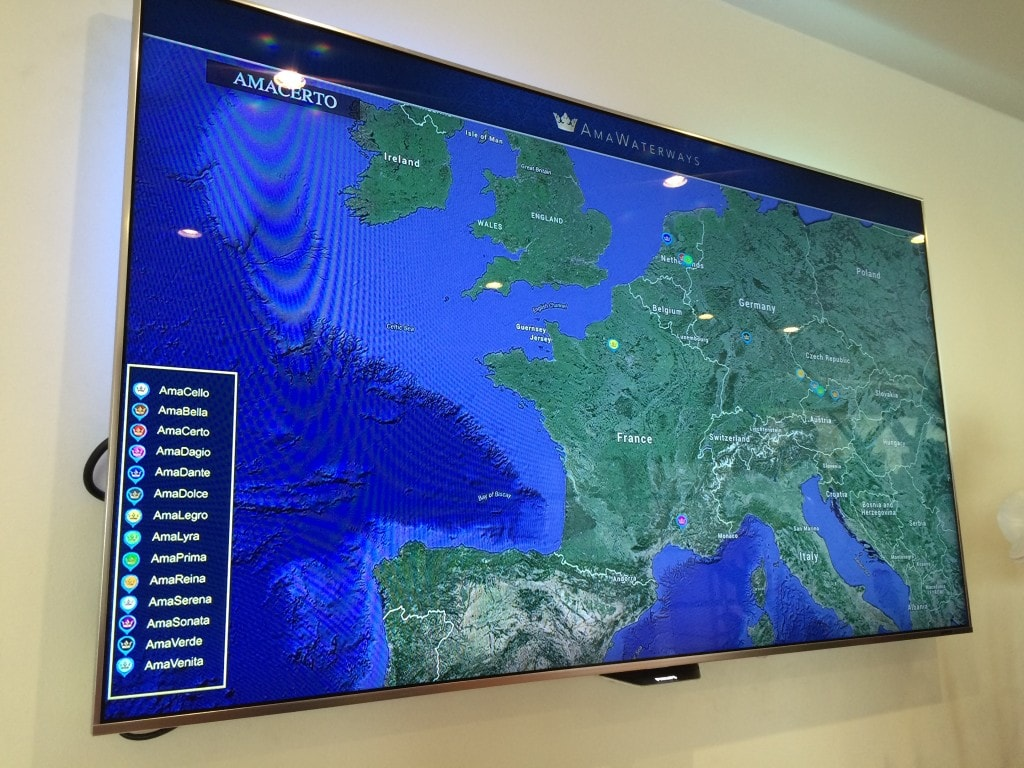 AmaCerto AmaWaterways Interactive Map