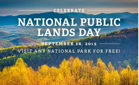 National Lands Day Sept 26 Park